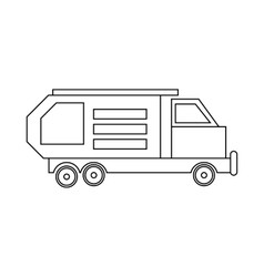Garbage truck waste collector icon outline style vector