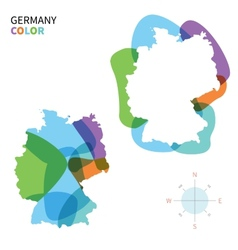 Abstract color map of germany vector