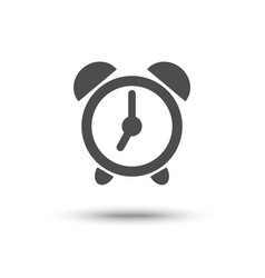 Alarm clock iconl isolated vector