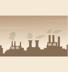 Bad environment with pollution fron industry vector