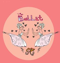 ballet set banner print ballerina vector image