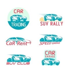 Car Logo Template Design set vector image