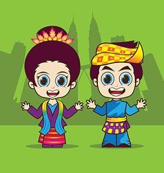 Cartoon asean malaysia vector