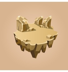 Cartoon Stone Isometric Island for Game vector image vector image