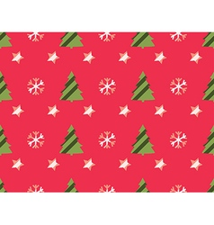 Christmas seamless pattern with christmas trees vector