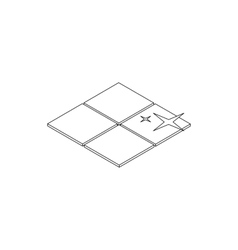 Clean tile icon isometric 3d style vector image