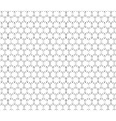 Double honeycomb seamless pattern vector