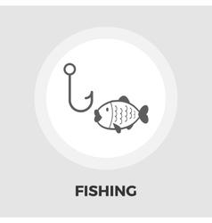 Fishing flat icon vector image