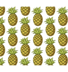 Fresh pineapple pattern vector