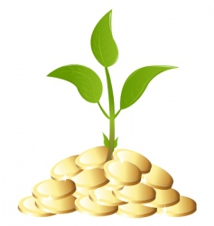 green young plant with money vector image