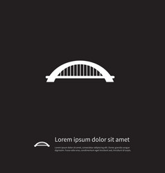 Isolated suspension icon arch element can vector