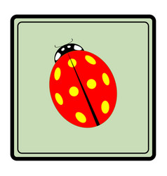 ladybird red icon vector image