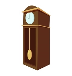 Large wall clock icon cartoon style vector