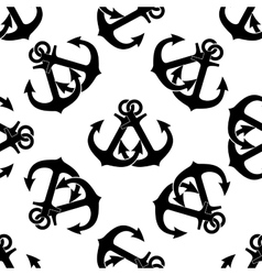 Marine crossed anchors seamless pattern vector
