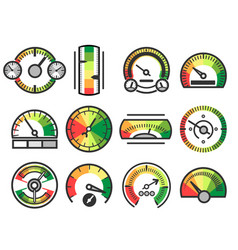 measuring guage device icons measurement vector image vector image