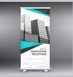 Modern business roll up standee banner concept vector