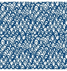Nautical pattern inspired by fish skin in blue vector image