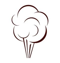 Silhouette cloud explosive callout for dialogue vector