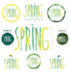 Spring3 vector image vector image