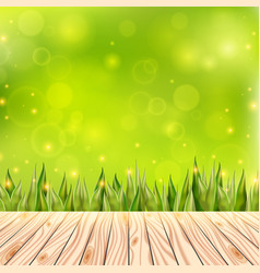 summer background with wooden deck wood floor vector image