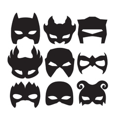 Super hero masks for face character in black vector image vector image