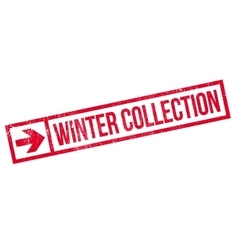 Winter collection stamp vector