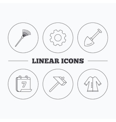 Shovel hammer and cloak icons vector