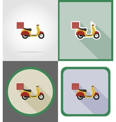 delivery flat icons 08 vector image