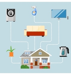 Home improvement concept with house appliances vector
