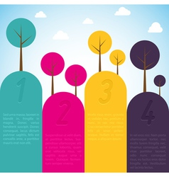 Cmyk banners with trees vector image