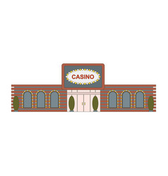 Casino building element for game mobile app or vector