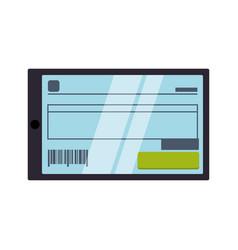 invoice digital online vector image