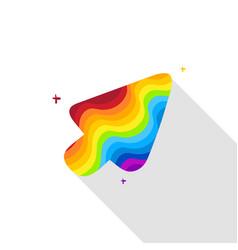 Rainbow cursor vector