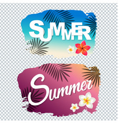 Summer text with blot vector