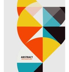 Colorful geometrical modern art minimal template vector