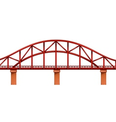 A red bridge vector
