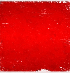 Red Christmas themed grungy background vector image