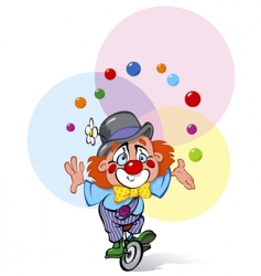 Clown juggler vector