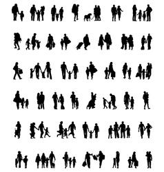 walking families vector image