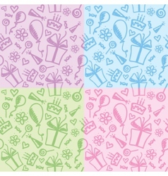 Birthday patterns vector