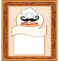 Pizza menu template vector