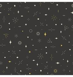 Geometric seamless pattern gold gray and beige vector