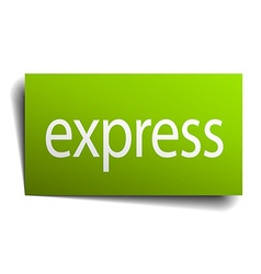 Express green paper sign isolated on white vector