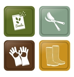 Gardening design botany icon flat vector