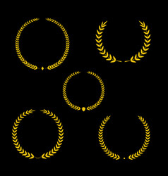 Best award gold award laurel wreath set vector