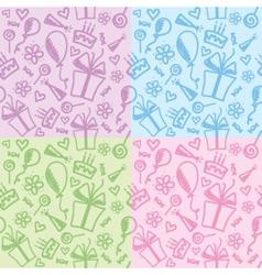 birthday patterns vector image