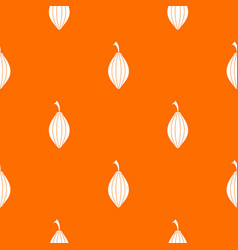 Black cardamom pod pattern seamless vector