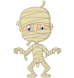 Cartoon mummy vector image