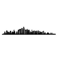 city doha skyline arabic urban cityscape qatar vector image