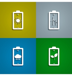 eco batteries vector image
